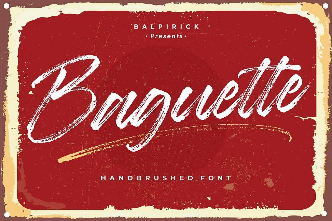 Baguette шрифт скачать бесплатно