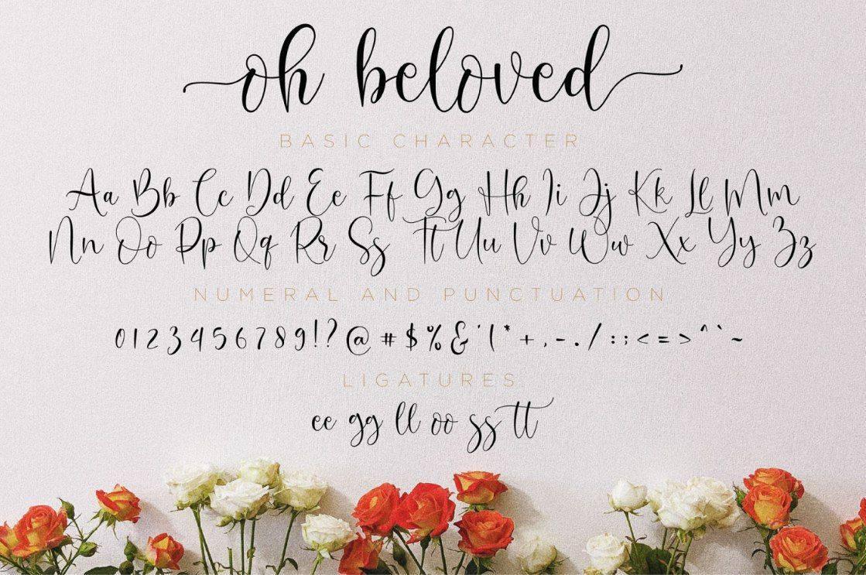Oh Beloved шрифт скачать бесплатно