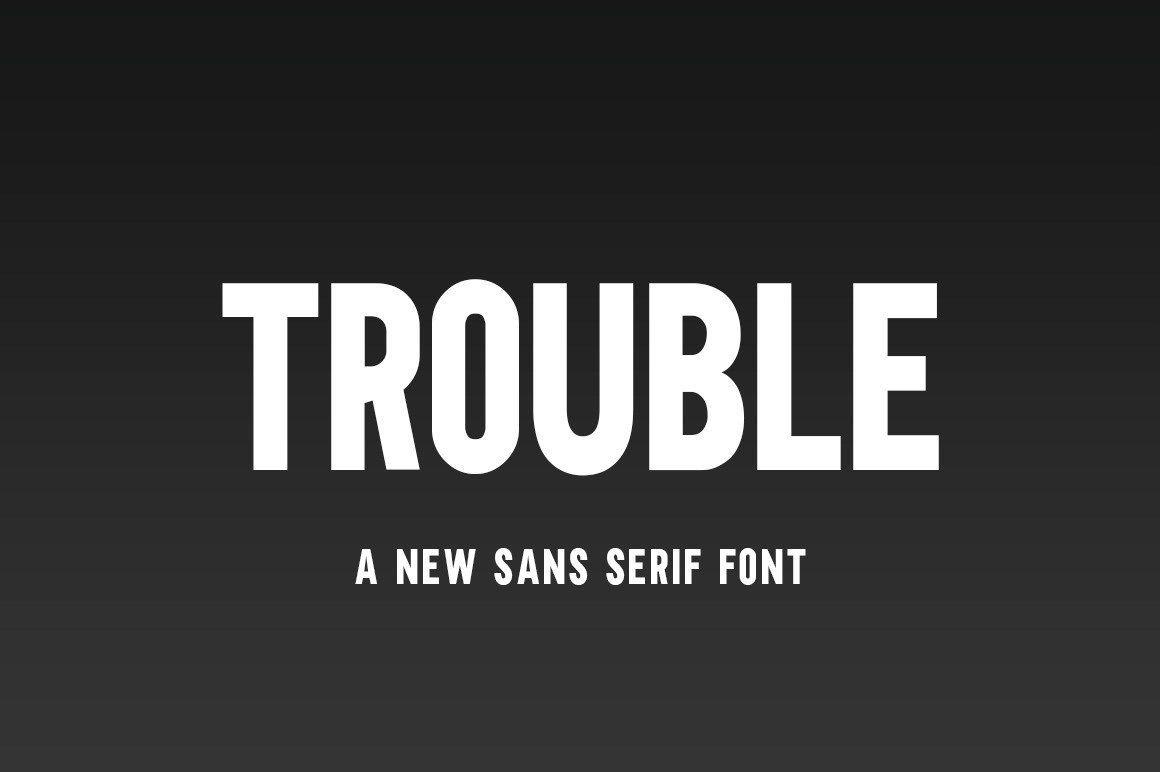 Trouble шрифт скачать бесплатно