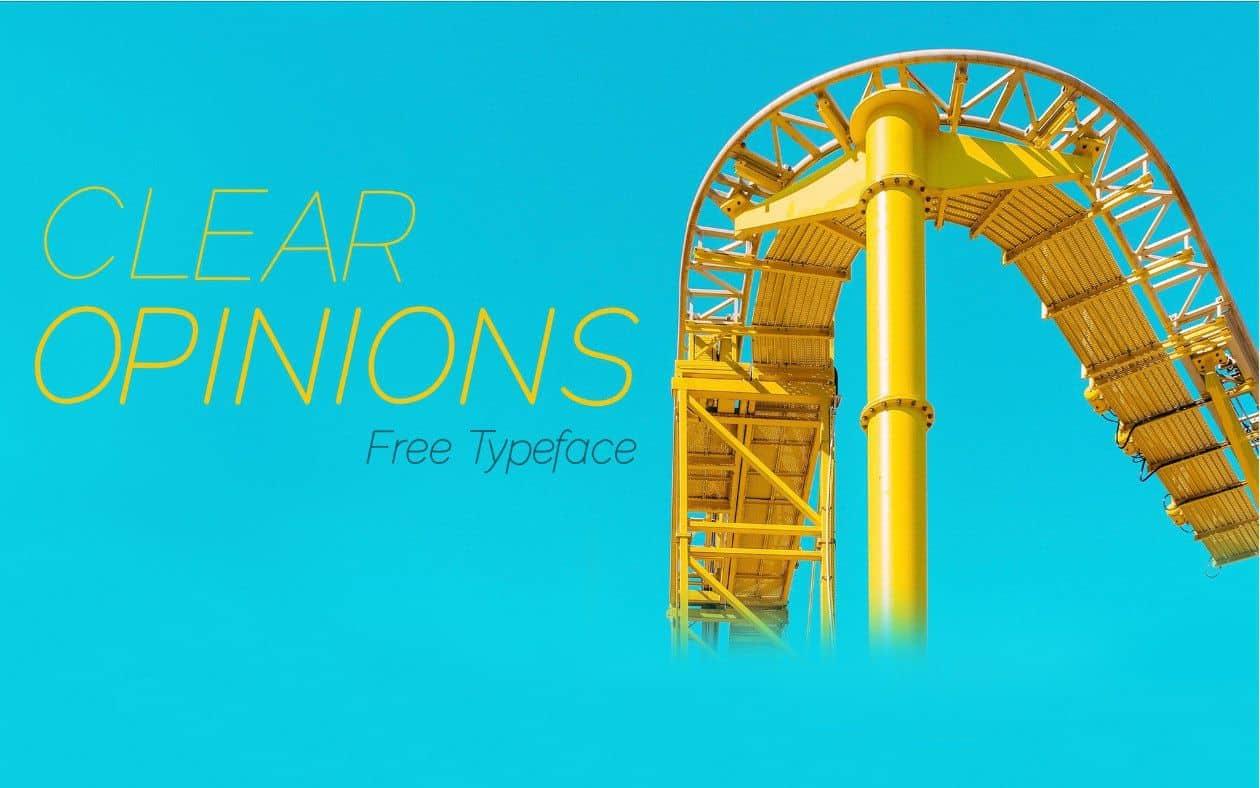 Clear Opinions шрифт скачать бесплатно