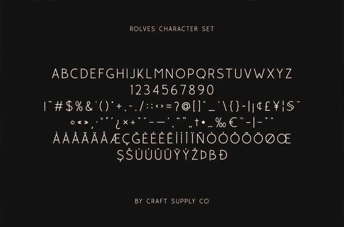 Rolves шрифт скачать бесплатно