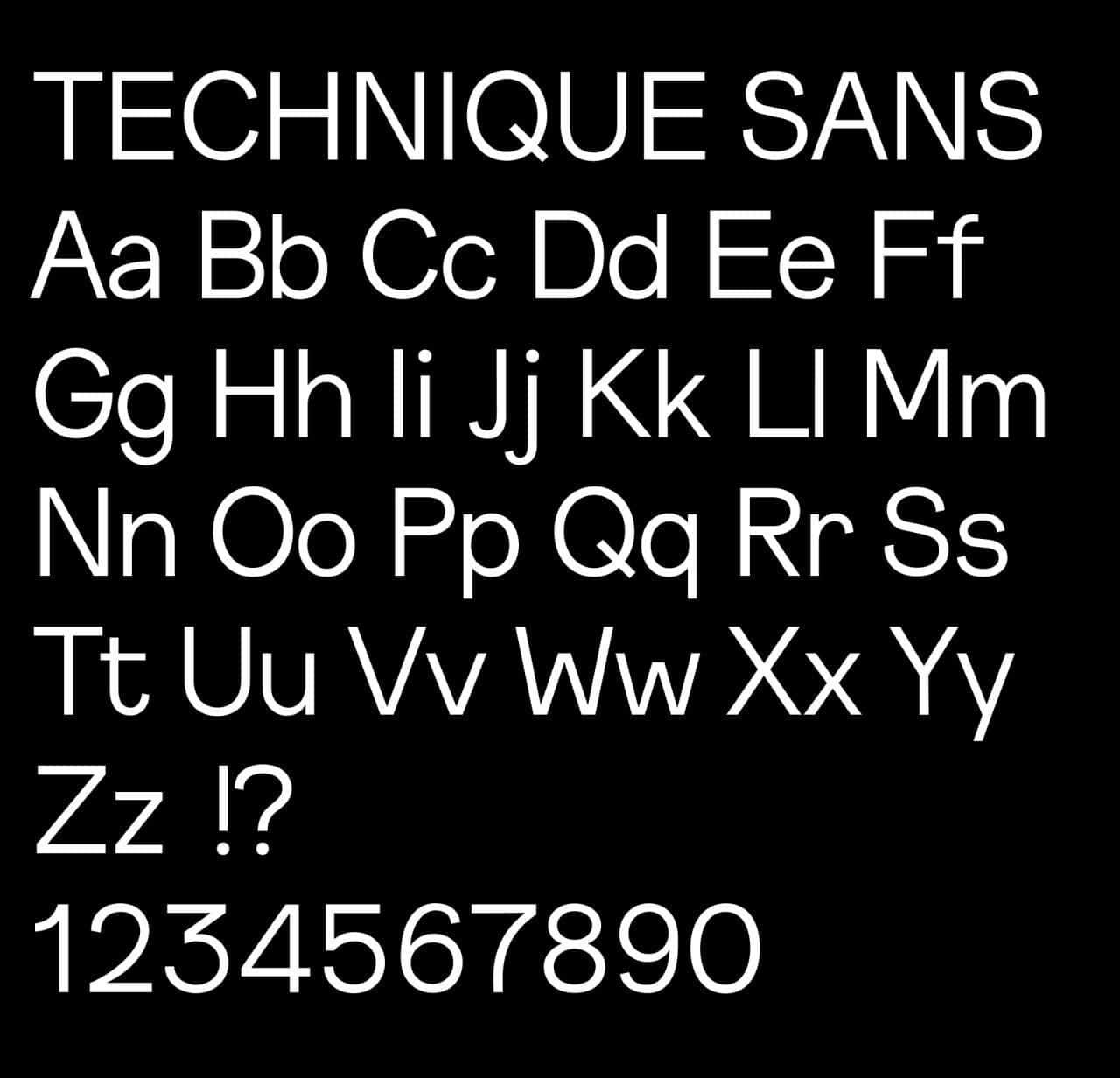 Technique шрифт скачать бесплатно