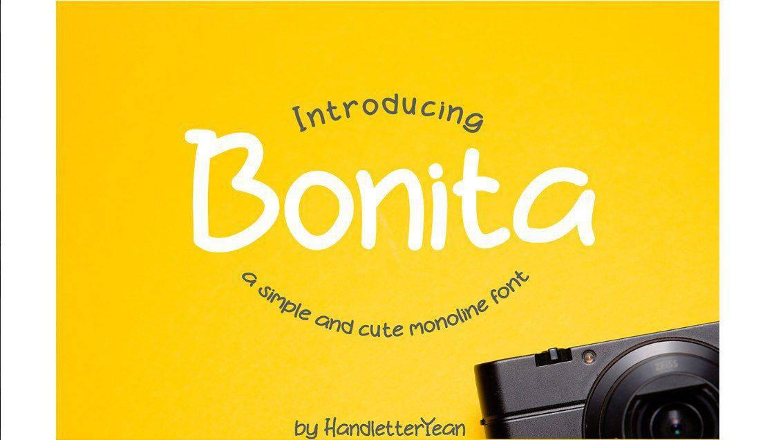Bonita шрифт скачать бесплатно