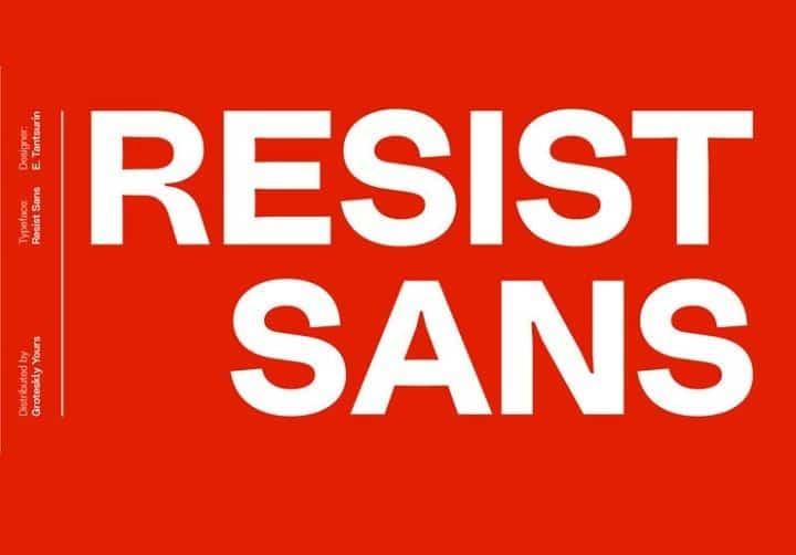 Resist Sans шрифт скачать бесплатно
