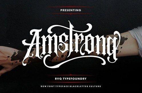 Amstrong шрифт скачать бесплатно