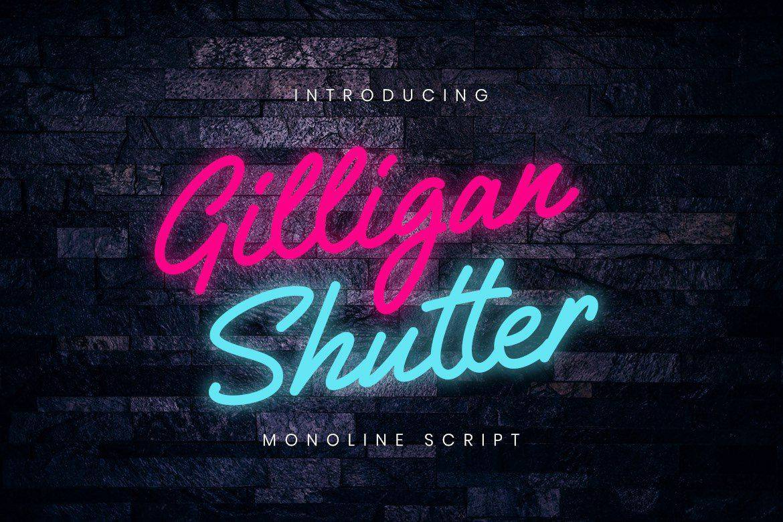 Gilligan Shutter шрифт скачать бесплатно