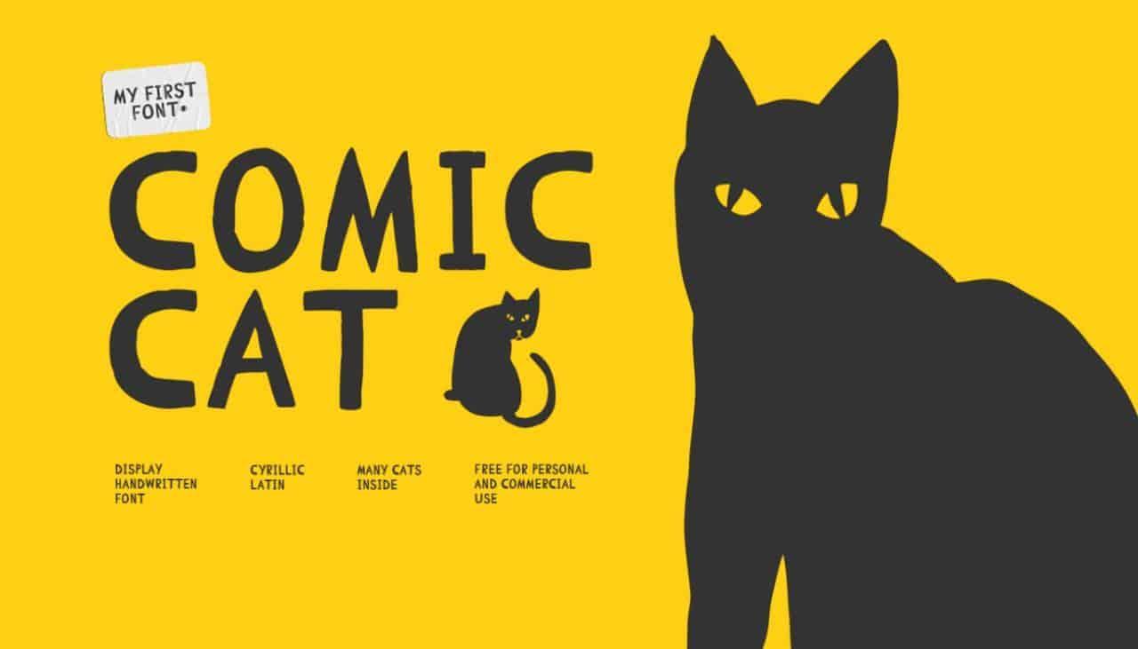 Comic Cat шрифт скачать бесплатно