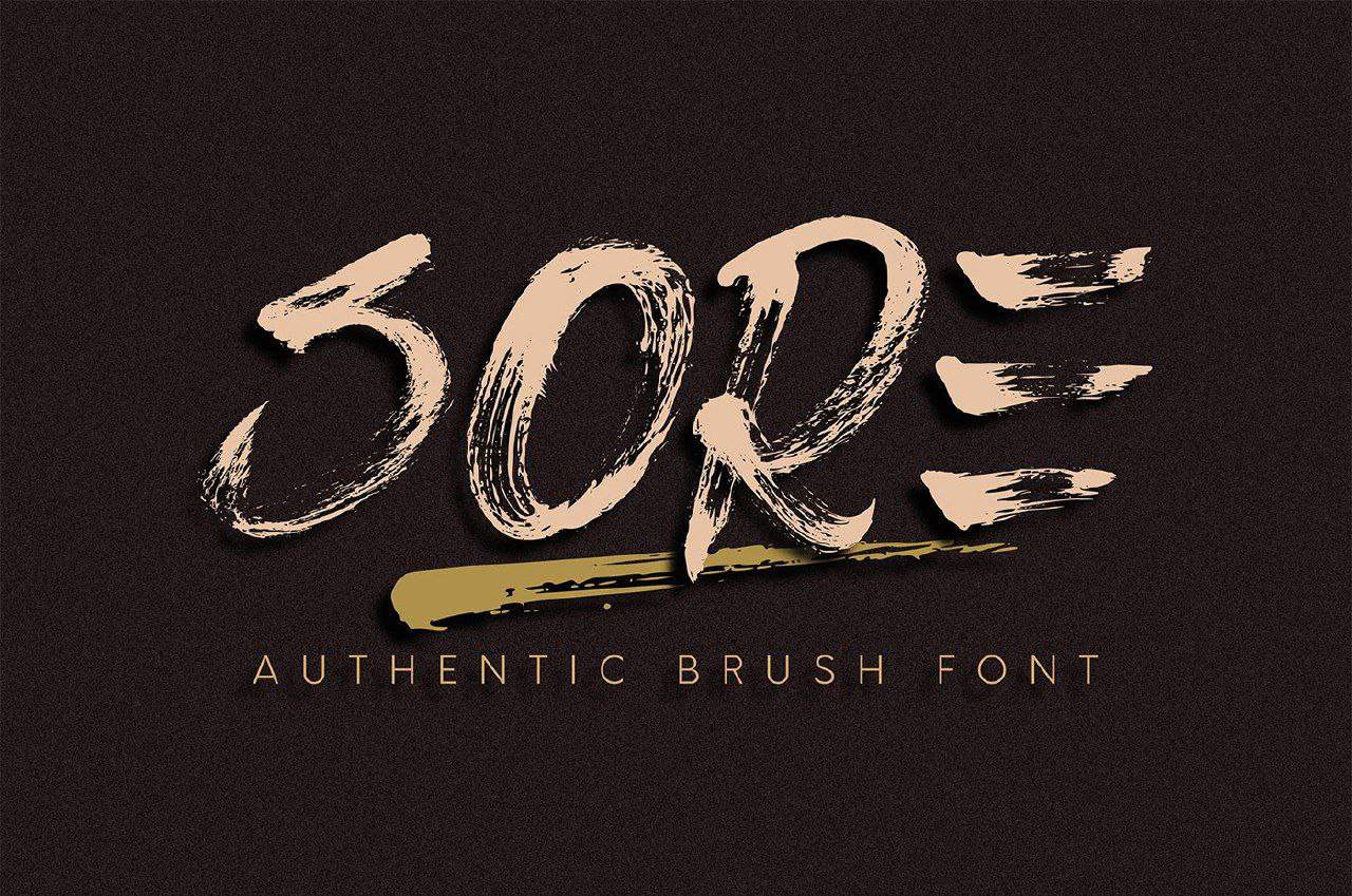 Sore Brush шрифт скачать бесплатно