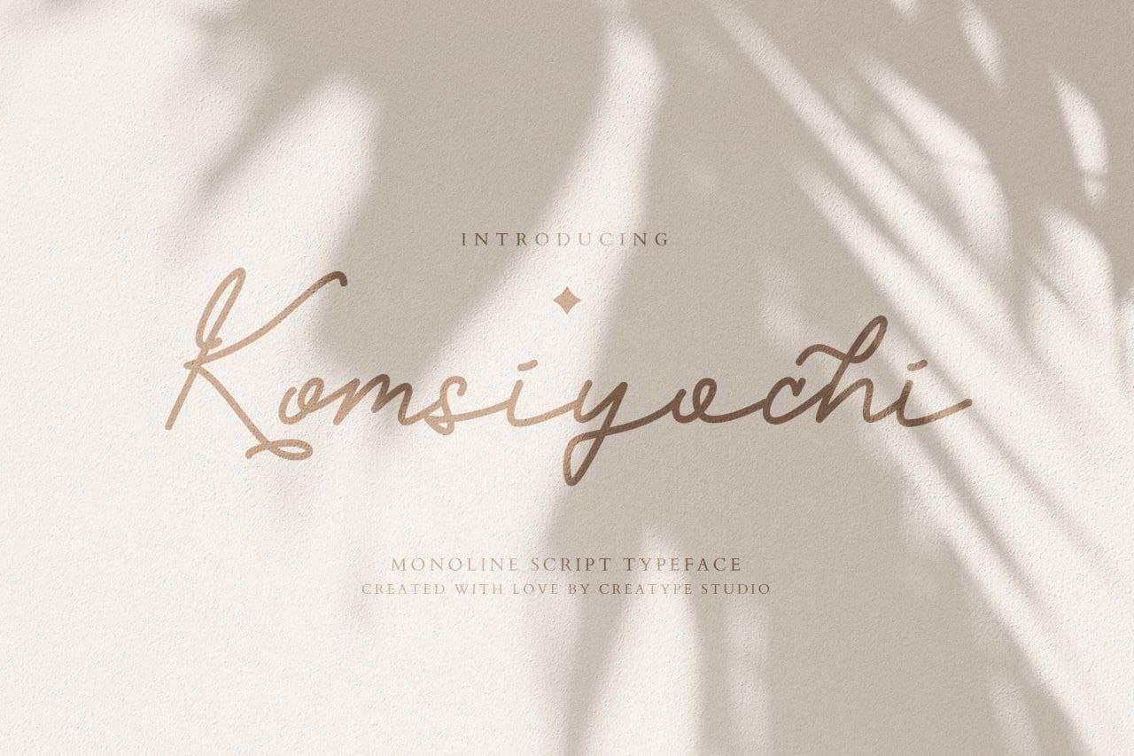 Komsiyochi шрифт скачать бесплатно