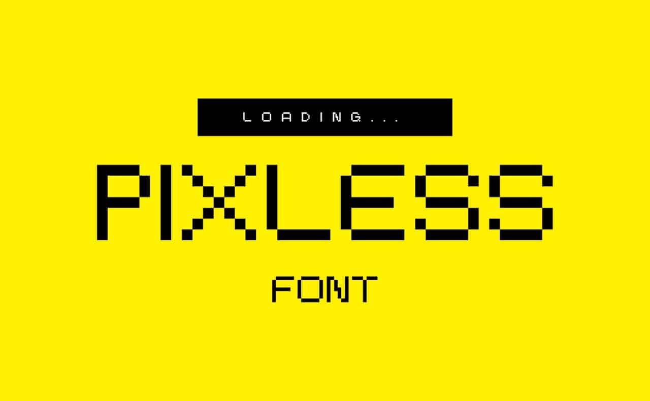Pixless шрифт скачать бесплатно