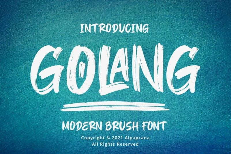 Golang шрифт скачать бесплатно