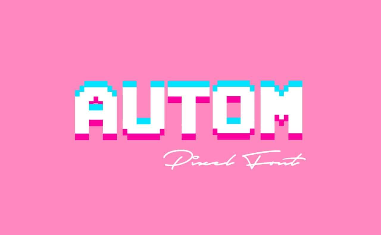 Autom шрифт скачать бесплатно