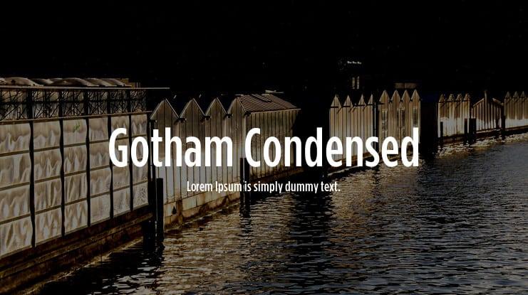 Gotham Condensed шрифт скачать бесплатно